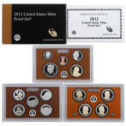 2012 U.s. 14 Coin Proof Set With Original Government Packaging Lot Of 7 Sets