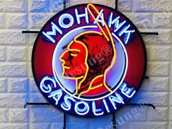 Mohawk Gasoline Gas Station Light Beer Lamp Neon Sign 24 With Hd Vivid Printing