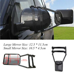 Dual Glass SUV Truck Trailer Clip-on Towing Mirror Adjustable Extends Vision Kit