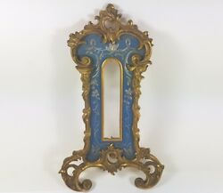 Old Thermometer Case Bronze/metal Hand Engraved Rococo About 1900 Al382