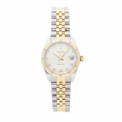 Rolex Datejust Steel Gold Auto 31mm Diamond Dial Jubilee Bracelet Ladies 178313