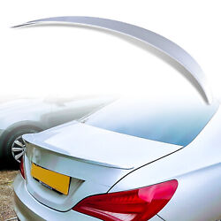 Painted 761 Polar Silver A Style Rear Trunk Spoiler For Mercedes Cla C117 Coupe
