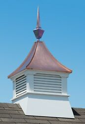Accentua Olympia Cupola With Square Copper Finial, 24 In. Square, 62 In. High