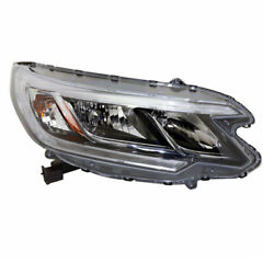 Capa For 15-16 Cr-v Front Headlight Headlamp Head Lamp W/bulb And Led Right Side