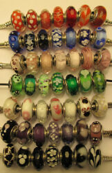 49 Authentic Pandora Silver 925 Ale Green Red Disney Glass Murano Beads Charms