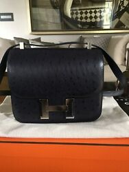 Brand New RARE AUTHENTIC Hermes Constance  24 Special Edition Indigo