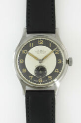 P.w.c.small Second Manual Winidng Cal.f294 Vintage Menand039s Watch 1940and039s Overhauled