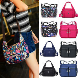 Women Ladies Multi Pocket Messenger Cross Body Handbag Hobo Bags Shoulder Bags $10.90