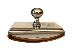 A Faberge Russian Imperial 84 Silver And Wood Blotter By V. Morozov