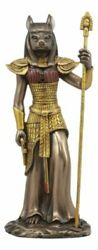 Ebros Egyptian Goddess Bastet Cat with Spear Statue 11quot; H Figurine