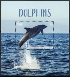 Palau 2018 Mnh Dolphins Common Bottlenose Dolphin 1v S/s Marine Animals Stamps