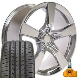 20x9 Rims Tires Tpms Fit Chevy Camaro Ss Style Chrome Wheels Ironman