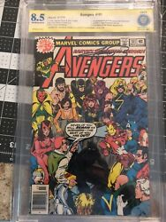 Avengers 181 Cbcs 8.5 1st App Of Scott Lang Signed By George Perez