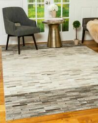Natural Area Rugs Mesa Multi-color Cowhide Patchwork Leather Rug
