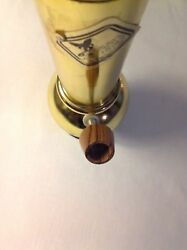 Vintage Gold Chrome Tobacco Hookah Pipe Unused Rare Sarah's Family 11 Inch