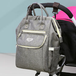 LAND Mommy Backpack Diaper Bags Multifunctional Baby Nappy Bag Waterproof Large $19.99