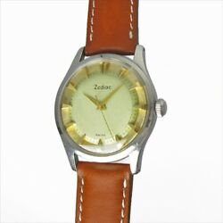 Zodiac Honeycomb Dial 776 Ss Case Hand Winding Vintage Watch 1960and039s