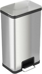 iTouchless AirStep 18 Gallon Step-On Kitchen Stainless Steel, Trash Can with