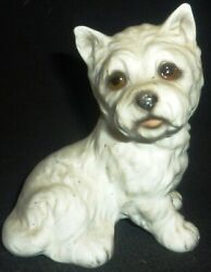 VINTAGE PORCELAIN FIGURINE DOG WESTIE AK 588A88 WEST HIGHLAND TERRIER GERMANY