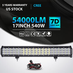 Tri-row 17inch 540w Led Light Bar Combo Offroad Suv Truck For Jeep Atv Ute 20