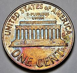 1961 Lincoln Memorial Uncirculated Bu Cent Nicely Color Toned On Both Sides