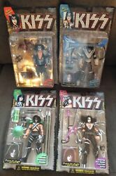 Mcfarlane Kiss Complete Set Of 4 Sealed Ultra Action Figures New Ships Fast