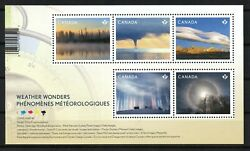 CANADA 2018 WEATHER WONDER CLIMATE NATURE MNH (1 sheet with 5 stamps)