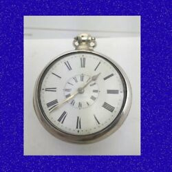 Napoleonic Silver Verge Chain Fusee Coventry Pair Case Pocket Watch 1815