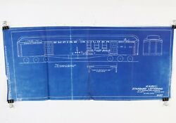 """Great Northern Gn Baggage Mail And Express Lettering 5157 1929 Blueprint 22.5"""""""