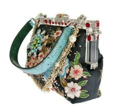 Dolce & Gabbana Multicolor VANDA Floral Embroidered Women's Bag