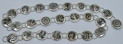 Fine Hopi Sterling Silver Native American Overlay Concho Belt By James Selina
