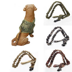 Quick Release Heavy Duty Military Leads Belt Dog Tactical Bungee Leash Harness