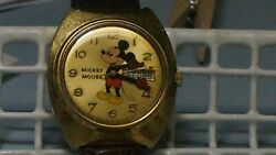 Vintage Elgin Swiss 17j Automatic Day Date Mickey Mouse Character Watch. Rare