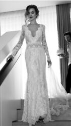 New/Unused $11,000 Lihi Hod White Orchid Wedding Dress Gown Size 2