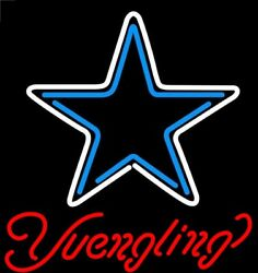 New Dallas Cowboys Yuengling Bar Beer Neon Light Sign 24x20