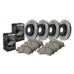 Stoptech Front Rear Disc Brake Pad Rotor Kit For 04-08 Acura Tl 935.40025