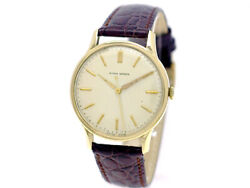 Ulysse Nardin 18k Gold 17 Jewels Hand Winding Vintage Watch 1950and039s Overhauled