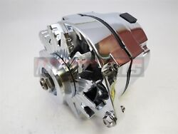 55up Chevrolet Gm Chrome 140 Amp High Out Put Alternator 1 Wire Sbc Bbc Hot Rod