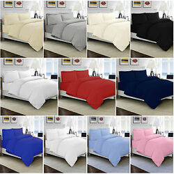 100 Egyptian Cotton Duvet Quilt Cover Set Single Double King Size Bed Sheets