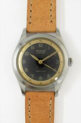 Pronto Two Tone Arabic Numerals Dial Automatic Vintage Watch 1940's Overhauled