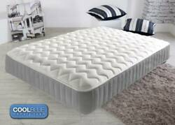 Memory Foam Mattress Quilted Sprung - Single 3ft Double 4ft6 Double 5ft Matress