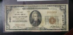 1929 Type-1 First National Bank Kings Mountain Nc 20.00 Ch. 5451