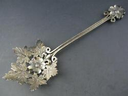 Rare Sterling Ludwig And Redlich Bon Bon / Nut Serving Spoon Aesthetic Floral Leaf