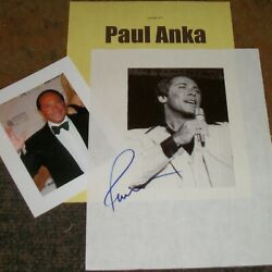Paul Anka Autographed Photo And Photos Real Collectible