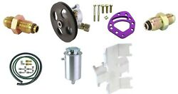 Power Steering Pump And Tank Combo Kit With Lines O-ring Fittings Head Mount