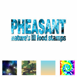 Pheasant Natures Food Stamps - Decal Sticker - Multiple Patterns And Sizes Ebn3859