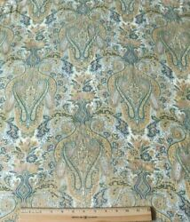 French Antique 19thc Cotton Paisleyframe Layoutdetailed Fabricl-49xw-30