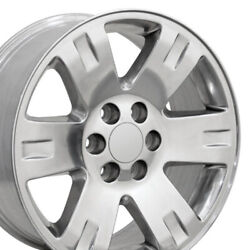 5307 Polished 20x8.5 In Wheels Set Of 4 Fit Gmc Chevrolet Trucks And Suvs