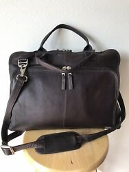 New Latico Leathers Heritage Collection Slim Top-zip Briefcase