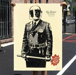 Shepard Fairey Obey My Florist Is A Dick Large Format Serigraph Print Poster /89